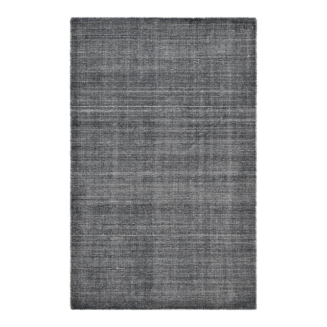 Halsey, Contemporary Solid Hand Loomed Area Rug, Charcoal, 5 X 8 For Sale - Image 9 of 9