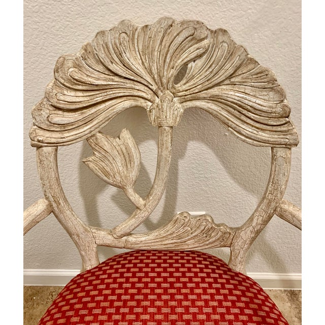 Art Nouveau Style Carved Dining Chairs - Set of 8 For Sale - Image 12 of 12