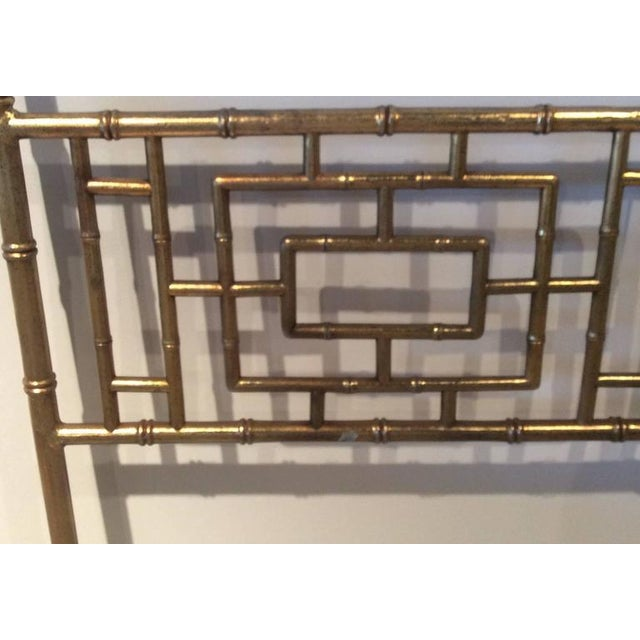 Asian Vintage Faux Bamboo Chinese Chippendale King-Size Headboard For Sale - Image 3 of 11