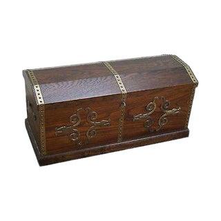 Lane Dome Top Oak Cedar Lined Treasure Chest For Sale