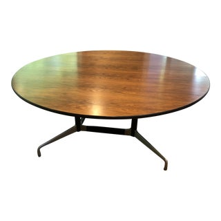 Vintage Mid-Century Modern Herman Miller Eames Rosewood Dining/Conference Table For Sale