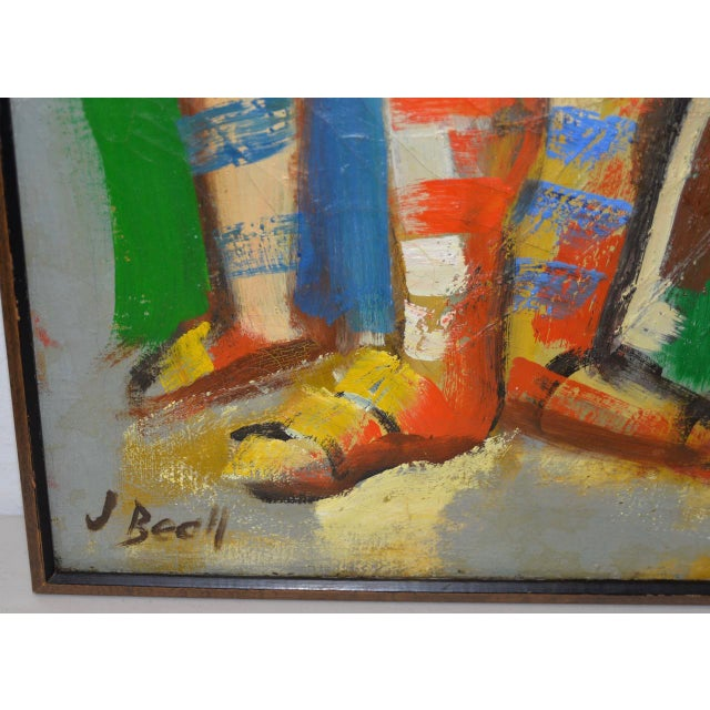 "Abstract Monumental Mid Modern ""Football"" Painting by J. Beall c.1960 For Sale - Image 3 of 10"