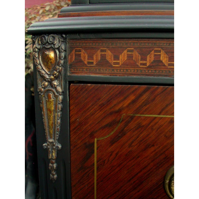 Brown Bethlehem Furniture Vintage Mahogany & Black Highboy Dresser For Sale - Image 8 of 11