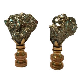 Pyrite Lamp Finials - A Pair For Sale