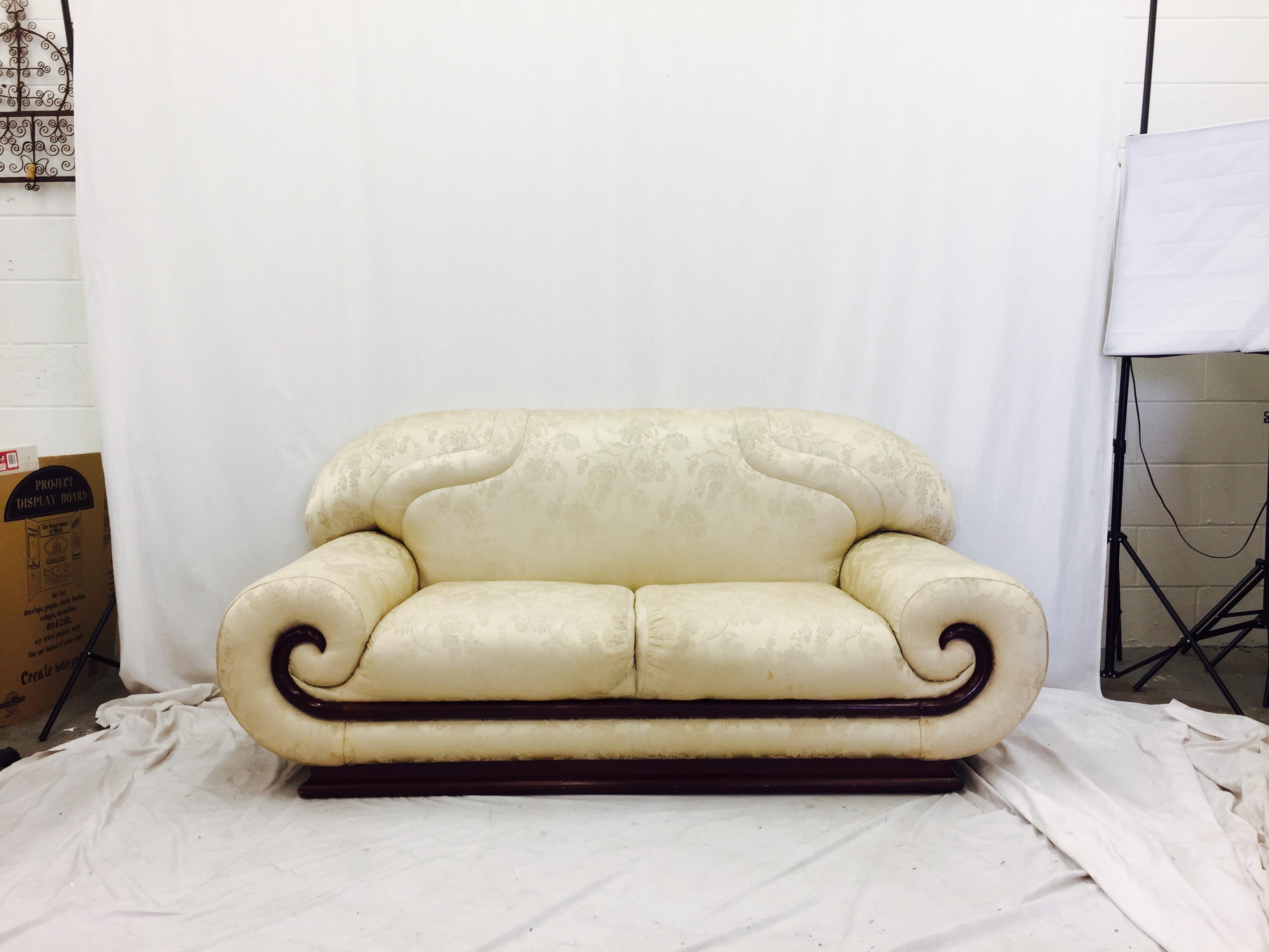 Vintage Asian - Modern Art Deco Sofa For Sale - Image 5 of 11