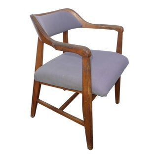 Vintage Danish Modern Style Solid Wood Accent Chair