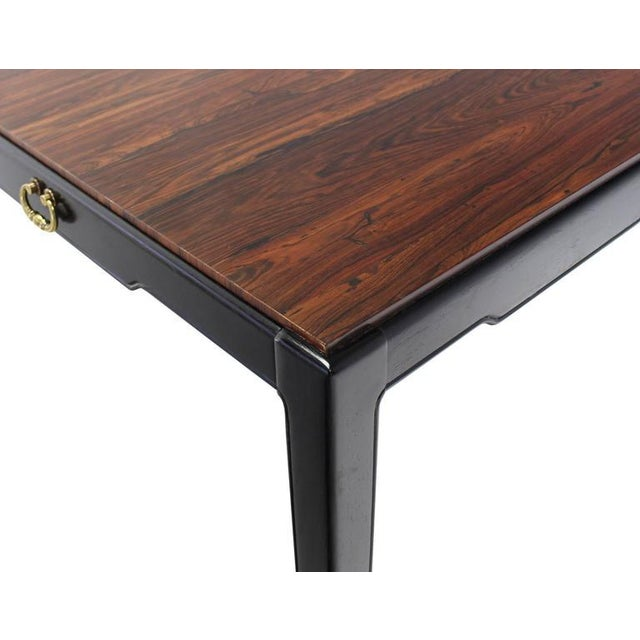 Mid-Century Modern Rosewood Top Mid-Century Modern Writing Table For Sale - Image 3 of 8