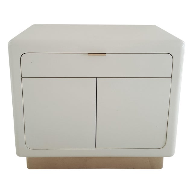 1970's Lacquered & Brass Plinth Side Cabinet - Image 1 of 6