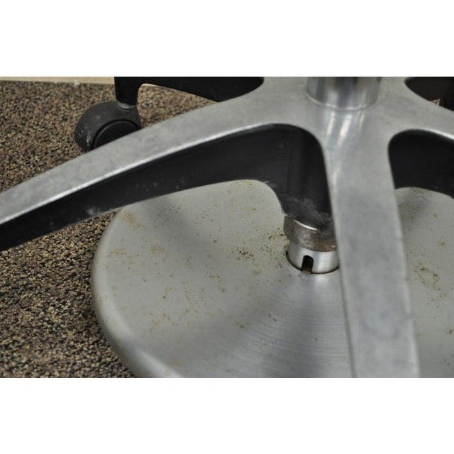 Vintage Mid Century Industrial Modern Adjustable Dental Dentist Chair Stool Seat For Sale - Image 10 of 11
