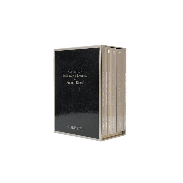 Complete catalog set for the Yves Saint Laurent and Pierre Bergé auction at Christie's Paris in 2009. This set consists of...
