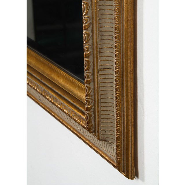 Traditional Gilt Gold Green Mirror For Sale - Image 3 of 5