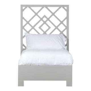 Darien Bed Twin - Light Gray For Sale