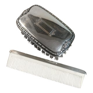 Engravable Sterling Silver Baby Brush & Comb