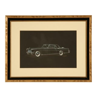 1956-57 Lincoln Automobile Painting by Dom Pacitti For Sale