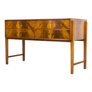 Mid Century Burl Wood Sideboard Credenza For Sale