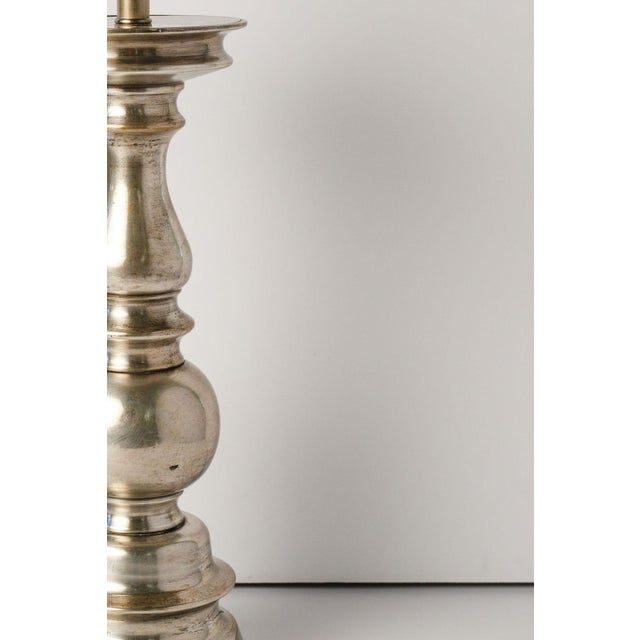 Antique Nickel Lamp For Sale - Image 4 of 7