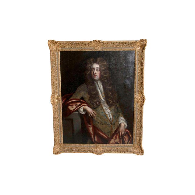 18th Century Oil on Canvas Portrait of an English Gentleman For Sale