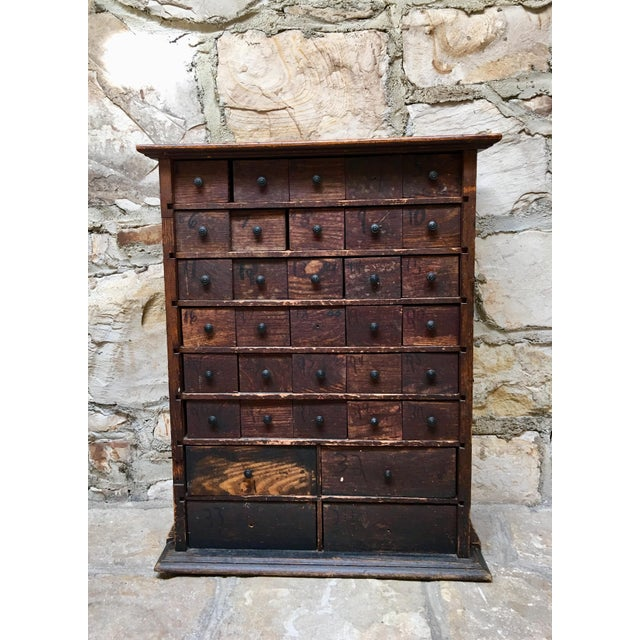 1920s Vintage Apothecary Cabinet For Sale - Image 9 of 9