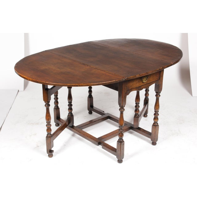 1920s English Jacobean Gateleg Table For Sale - Image 5 of 11