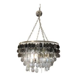 Ombre Capiz Shell 3-Light Pendant For Sale