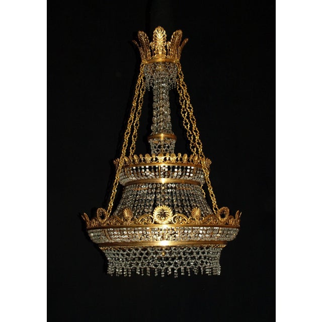 Antique Chandelier. Empire Style Chandelier - Image 2 of 7