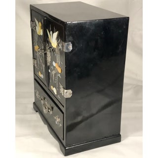 Vintage Chinoiserie Style Lacquered Jewelry Box Armoire Preview