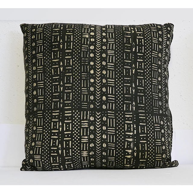 1980s African Mudcloth Pillow For Sale - Image 5 of 5