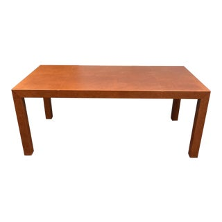Late 20th Century Edelman Leather Parsons Table For Sale