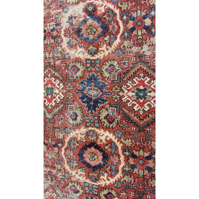 "Red and Blue Peshawar Area Rug - 13'1"" X 10' - Image 8 of 8"