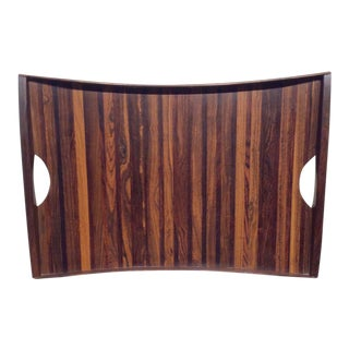 1960s Mid-Century Modern Don Shoemaker for Señal of Mexico Exotic Wood Rosewood Tray For Sale