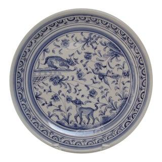 Portuguese Decorative Wall Plate For Sale