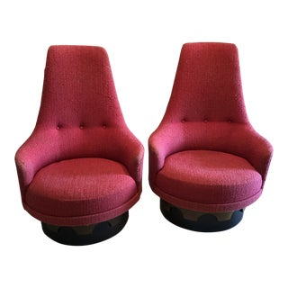 Mid-Century Modern Adrian Pearsall Swivel Chairs - a Pair For Sale