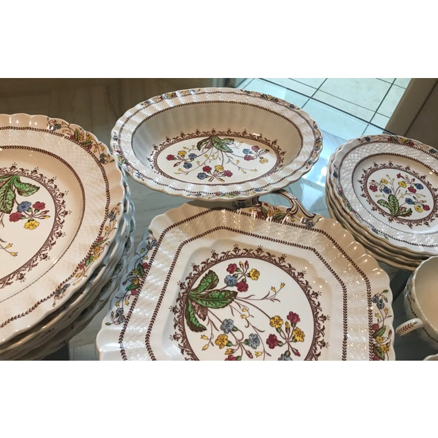 1940s Vintage Copeland Spode Cowslip China Set - 63 Pieces For Sale In West Palm - Image 6 of 13