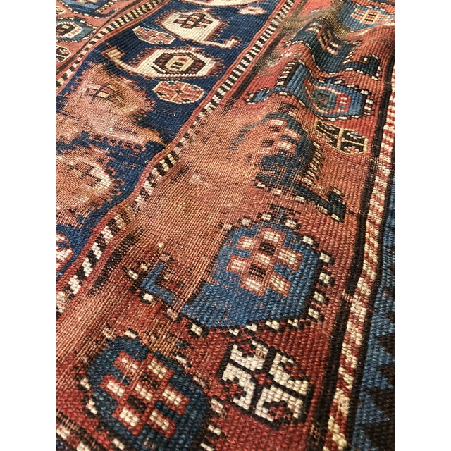 """Antique Caucasian Rug/Runner - 48"""" X 93"""" For Sale In New Orleans - Image 6 of 8"""