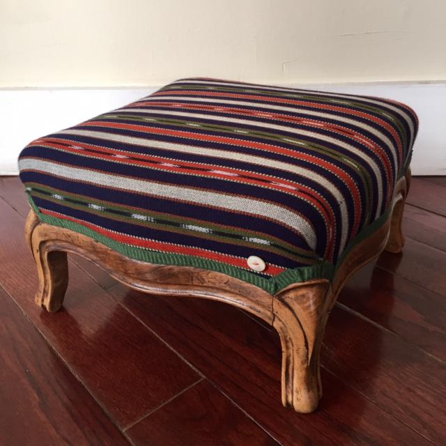 """""""Antigua"""" by SidebySide This 19th century footstool carries character from its feet to seat. An antique marvel newly..."""