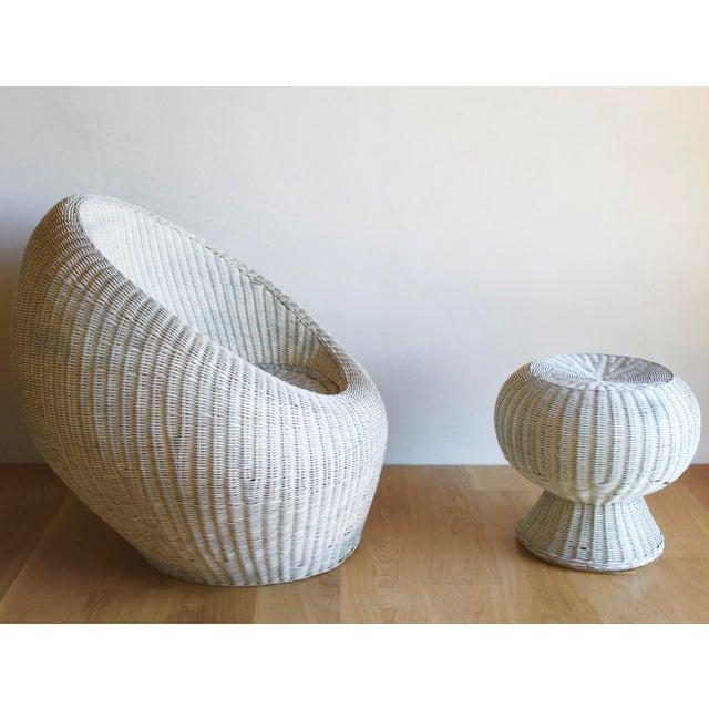 Isamu Kenmochi Isamu Kenmochi for Yamakawa Japan Rattan Lounge Chair & Side Table For Sale - Image 4 of 13