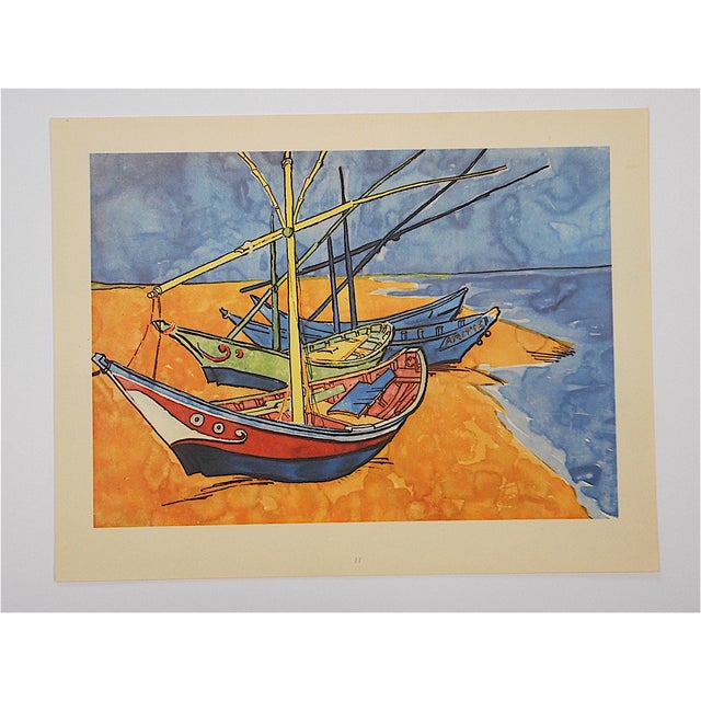 This vintage screenprint by world famous artist Vincent Van Gough (France/Belgium 1853-1890). He was lived in both Belgium...