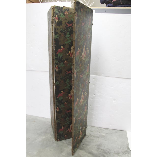 Antique Chinoiserie Folding Floor Screen - Image 4 of 8