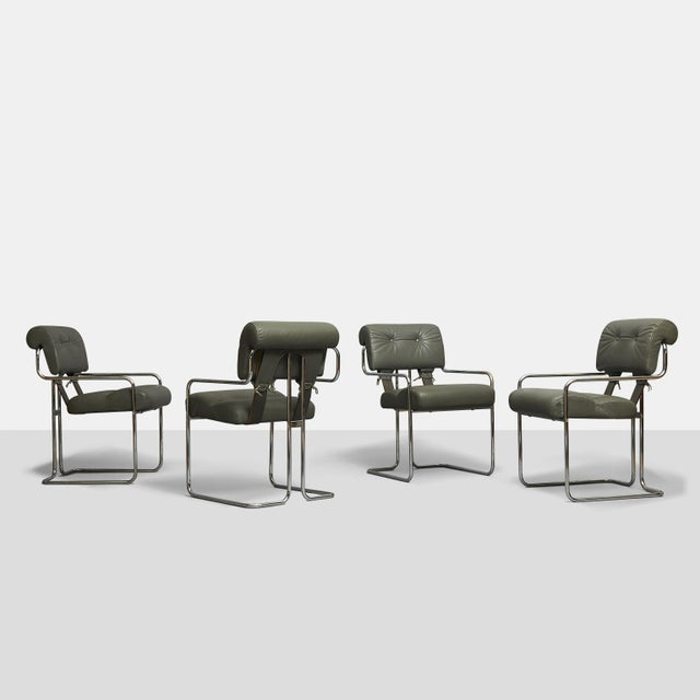 Gray Tucroma Dining Chairs by Guido Faleschini - set of 4 For Sale - Image 8 of 8