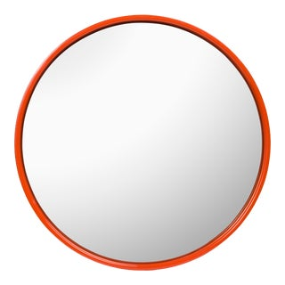 Pentreath & Hall Collection Large Round Mirror in Brown / Orange For Sale