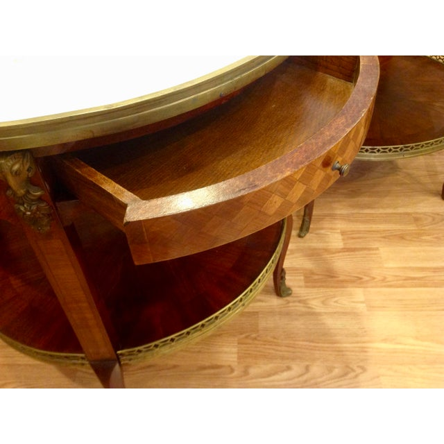 Pair of Fine French Bouillotte Tables For Sale - Image 10 of 13