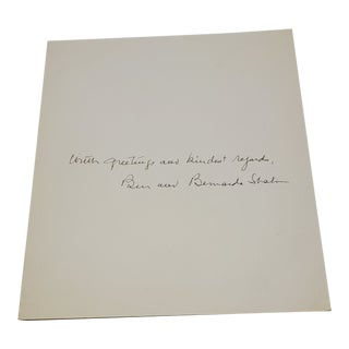 """Ben Shahn """"With Greetings and Kindest Regards"""" Print For Sale"""