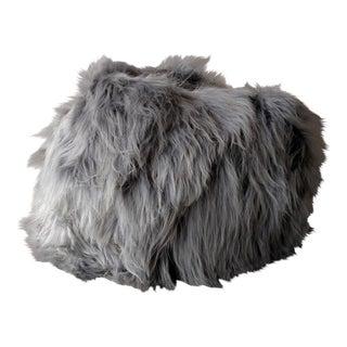 Moon Gray Sheepskin Bean Bag Chair