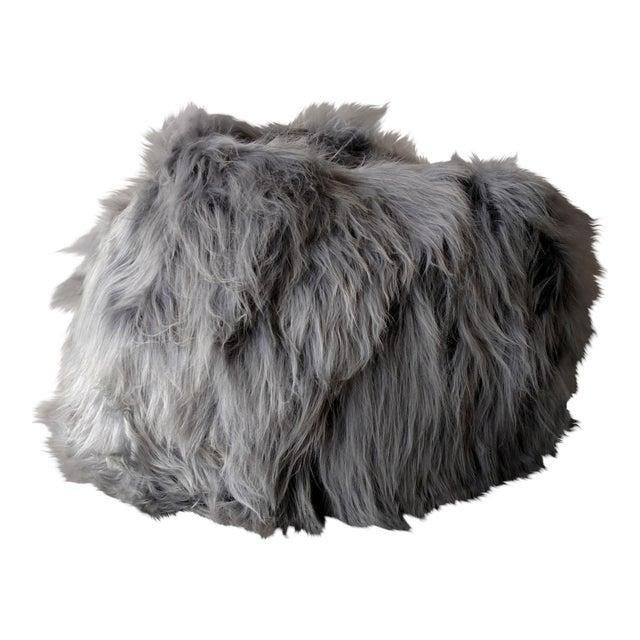 Moon Gray Sheepskin Bean Bag Chair - Image 1 of 7