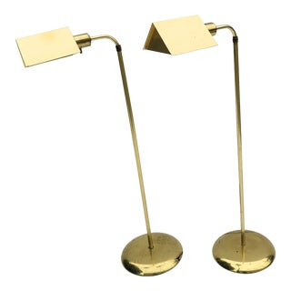 Vintage Cedric Hartman Style Floor Lamps - a Pair For Sale