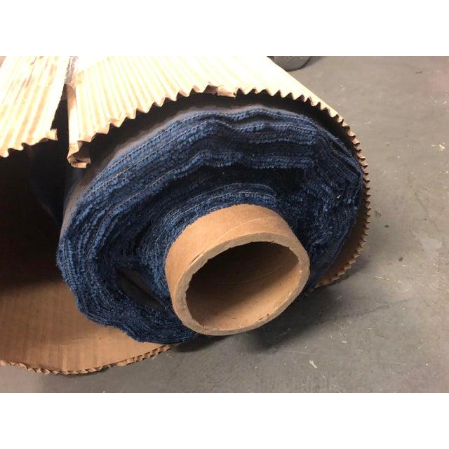 Textile Holly Hunt Aqua Velvet III Neptune Fabric - 19 Yards For Sale - Image 7 of 12