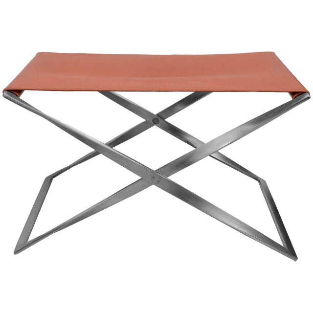 "Poul Kjaerholm ""Pk91"" Folding Stool - Image 10 of 10"