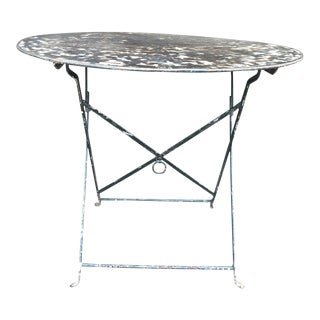 20th Century French Metal Bistro Table For Sale