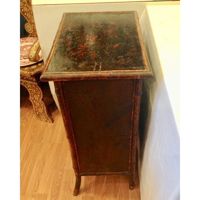 Late 19th Century 19th Century English Bamboo Cabinet For Sale - Image 5 of 13