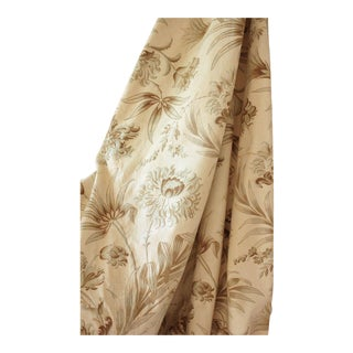 Antique 1895 French Belle Epoque Faded Printed Fabric Curtain Panel For Sale